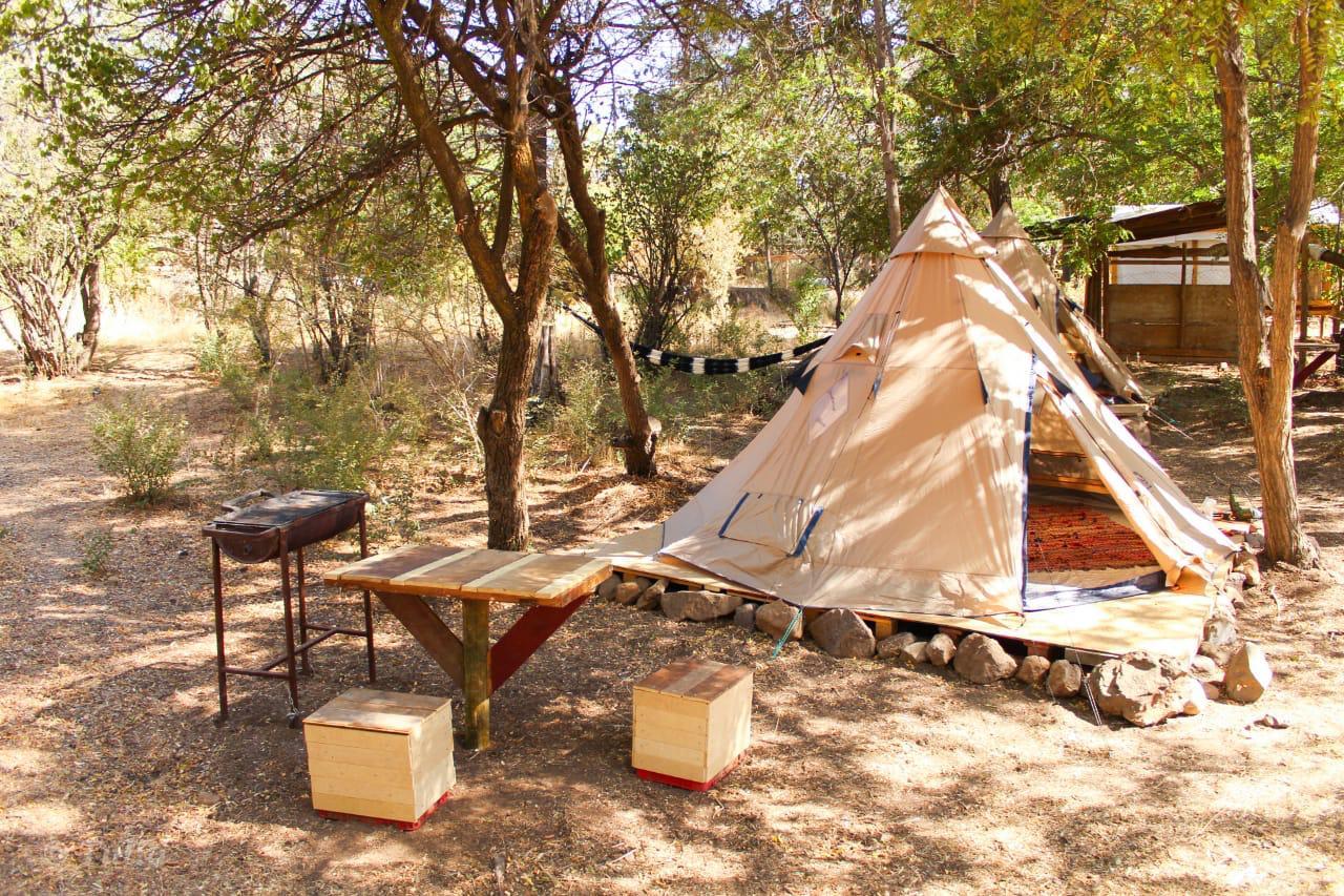 villa glamping duendes cajon maipo camping