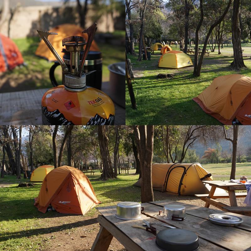 mejores campings cajon del maipo santiago